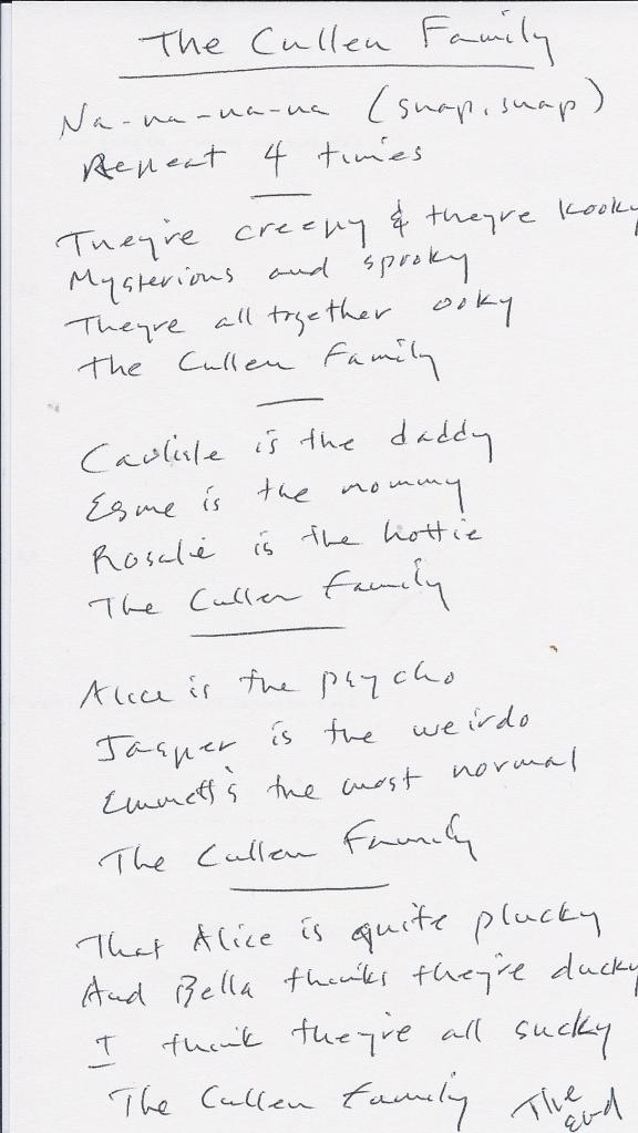 song-cullen family